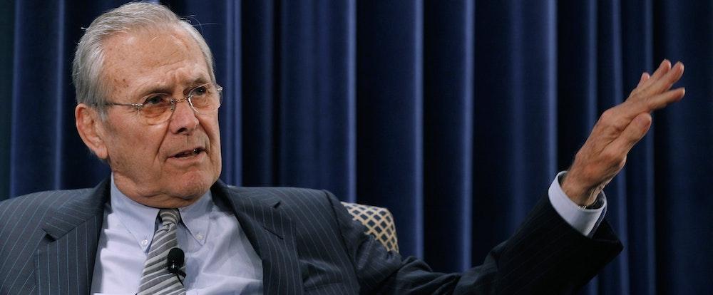 Donald Rumsfeld Is Finally Under Interrogation