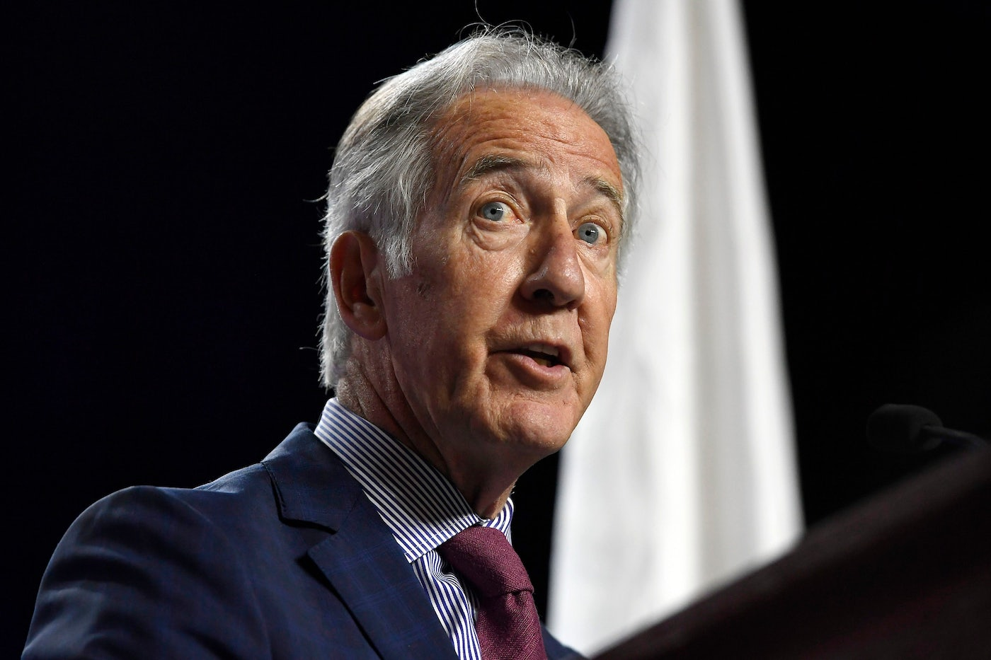 House Ways and Means Chairman Richard Neal speaks to delegates during the 2019 Massachusetts Democratic Party Convention.
