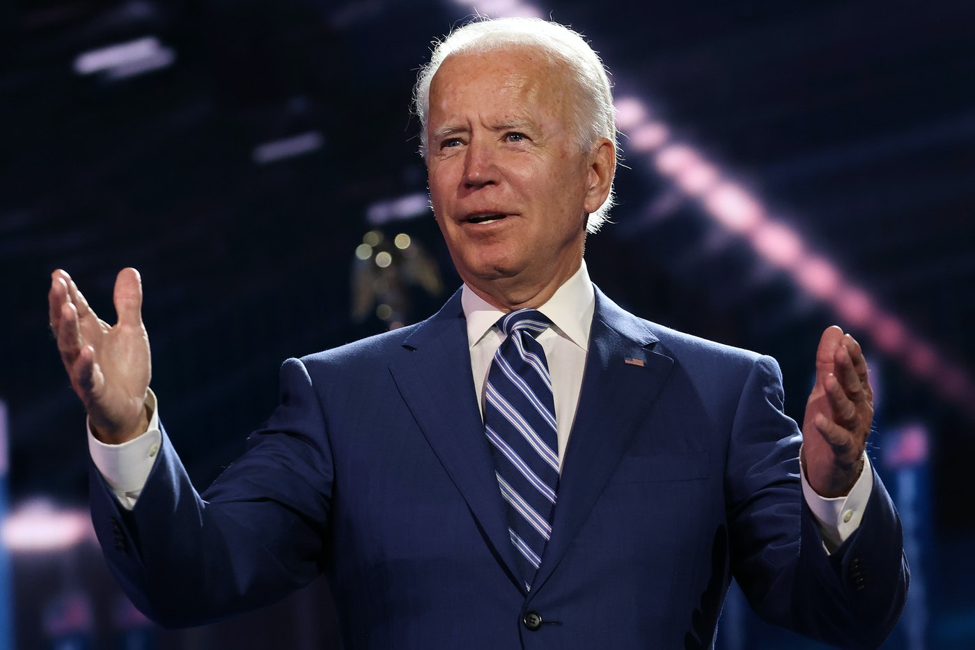 Joe Biden on the third night of the Democratic National Convention