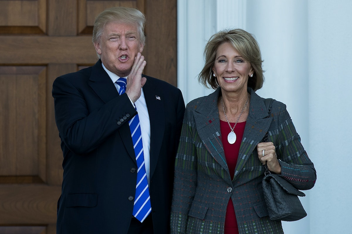 Betsy Devos Threat To Children With >> Betsy Devos Is Not A Mainstream School Reformer The New Republic