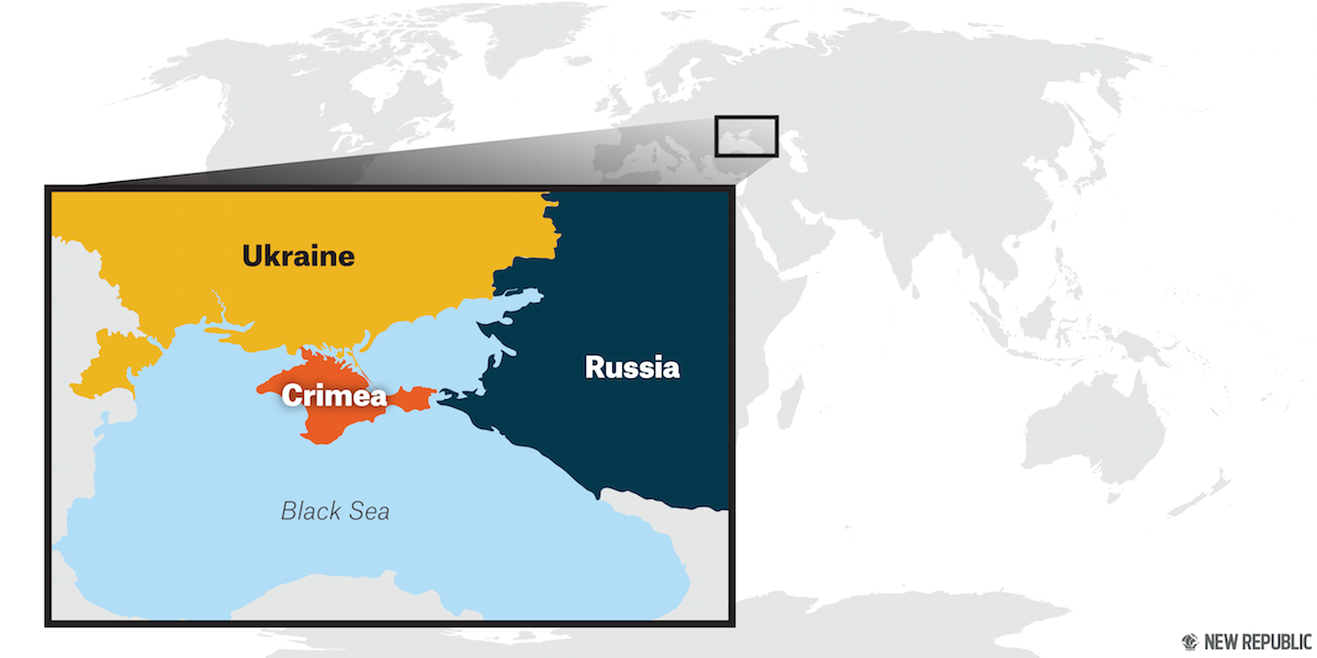 One Year After Russias Annexation The World Has Forgotten Crimea - Crimea map geopolitics south russia