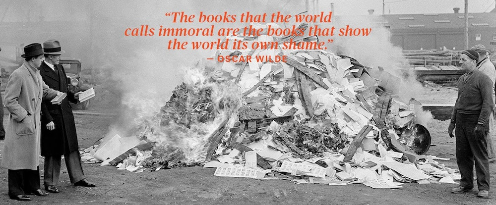 book burning Beginning on may 10, 1933, nazi-dominated student groups carried out public burnings of books the.