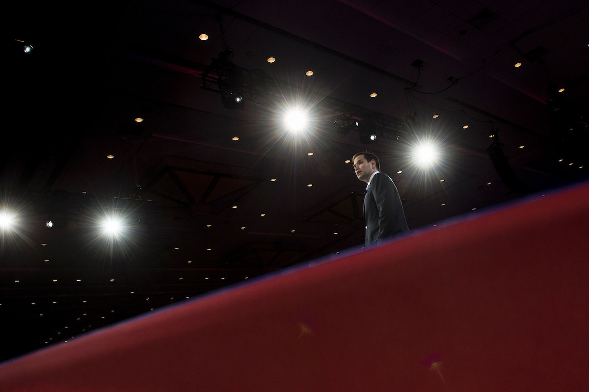 Marco Rubio has officially become Little Marco.   The New Republic