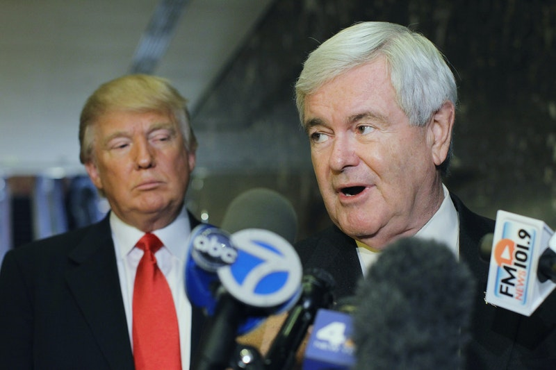 Image result for newt gingrich TALKING TO DONALD TRUMP