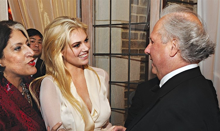 With Model Kate Upton and Vanity Fair editor Graydon Carter.