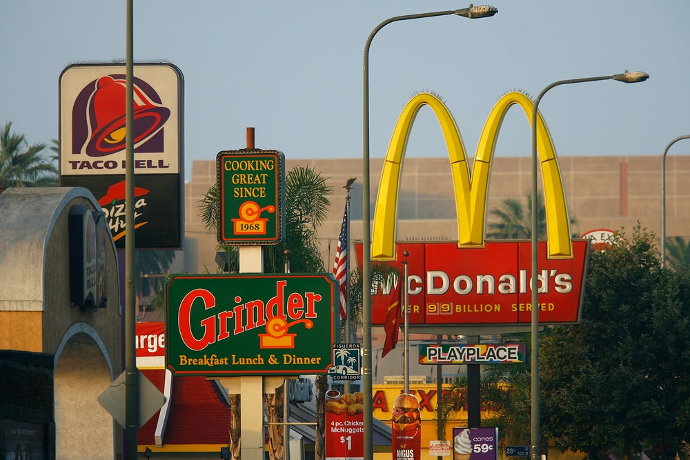 Fast food chains in the scarecrow