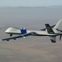 Homeland Security drone over the border with Mexico.
