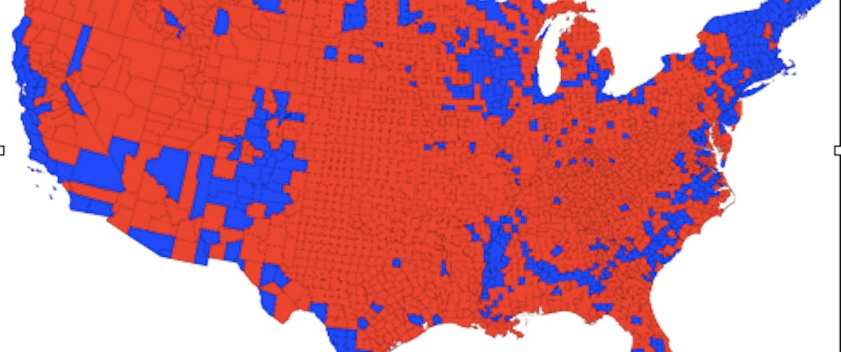 Cartogram Maps Prove That America Isn't a Red Country | The