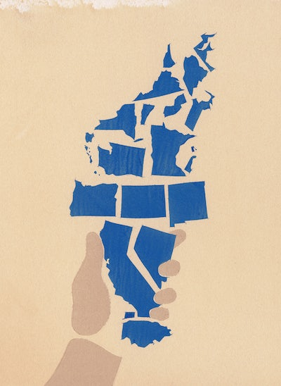 Its Time For A Bluexit New Republic - Electoral map can you hear us now