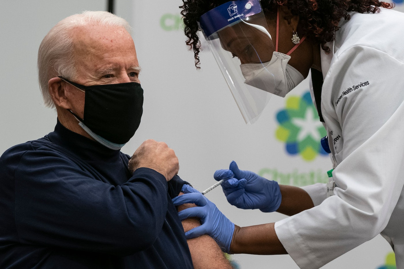 U.S. President-elect Joe Biden receives a Covid-19 vaccination.