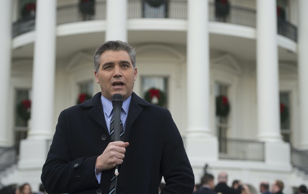 To smear CNN's Jim Acosta, White House seems to have borrowed a sped-up Infowars video.