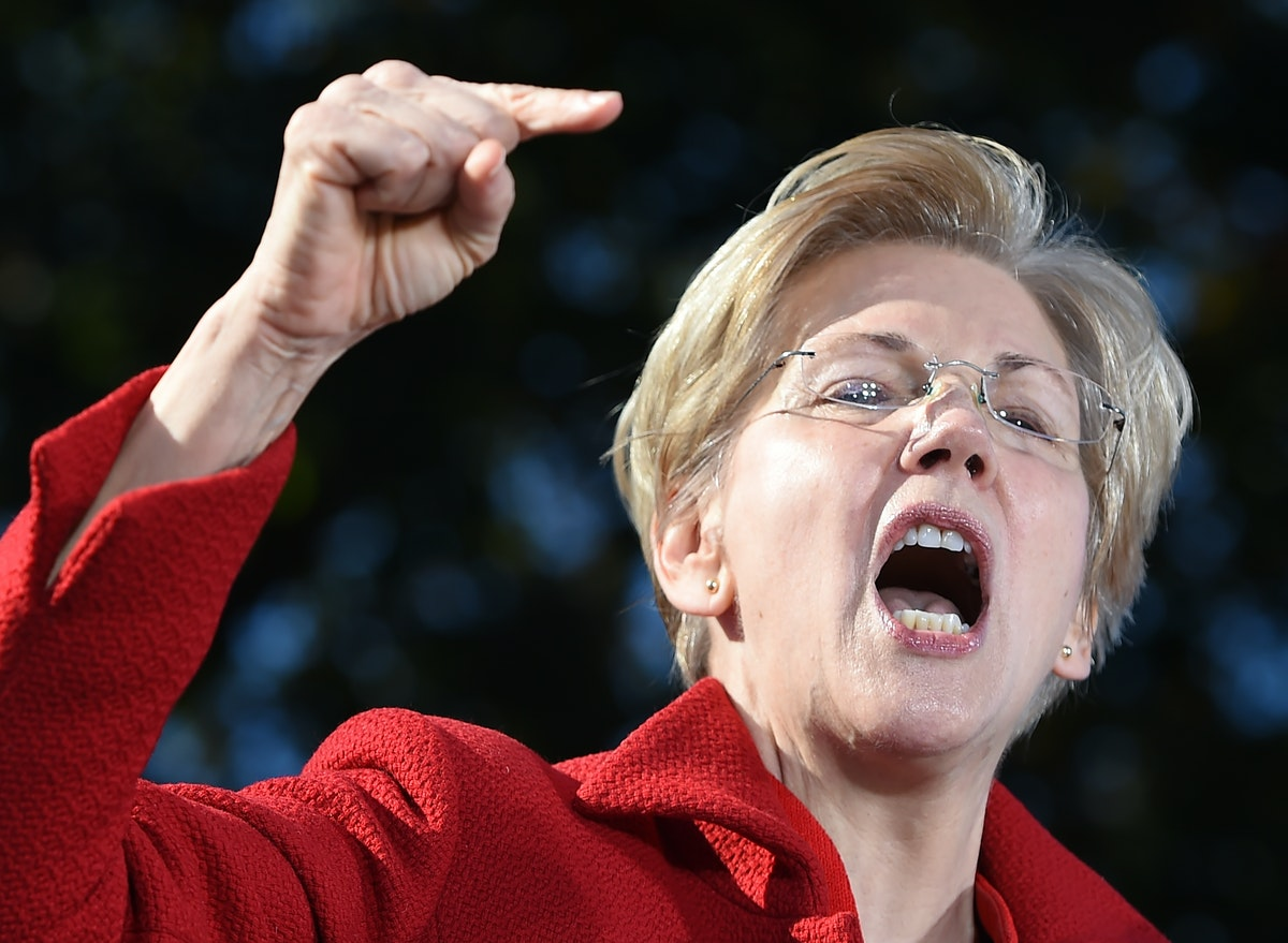 Image result for angry liz warren