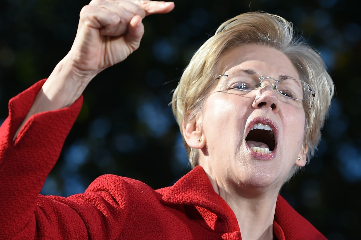 Image result for elizabeth warren angry