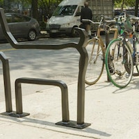 Byrne for Brookings? A whimsical David Byrne-designed bike rack in New York