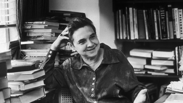 Poet Adrienne Rich at the office of her publisher, W. W. Norton, in May 1987.