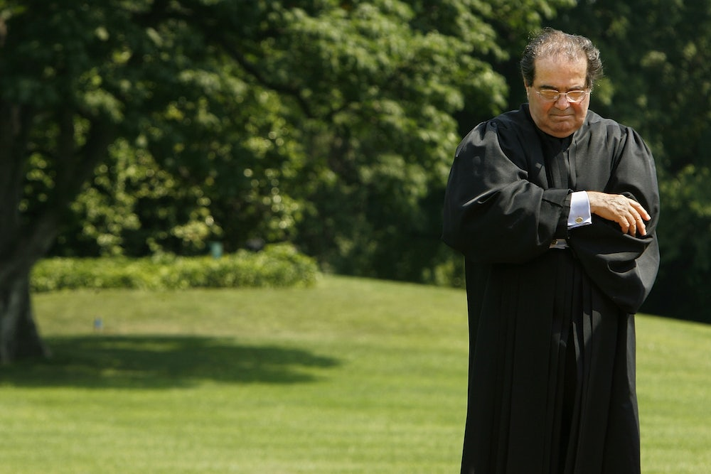 Conservative Supreme Court Justices Take Aim at Scalia