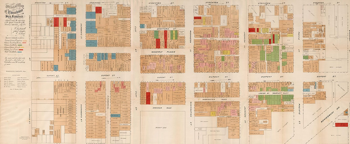 Map of San Francisco's Chinatown in 1880s Shows Brothels, Opium