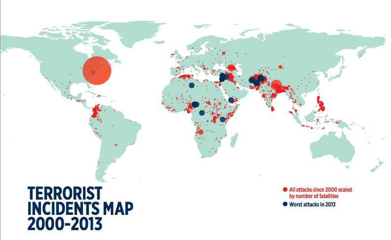 Map Climate Change Kills More People Worldwide Than Terrorism - Map of 98 us designated terrorist groups location