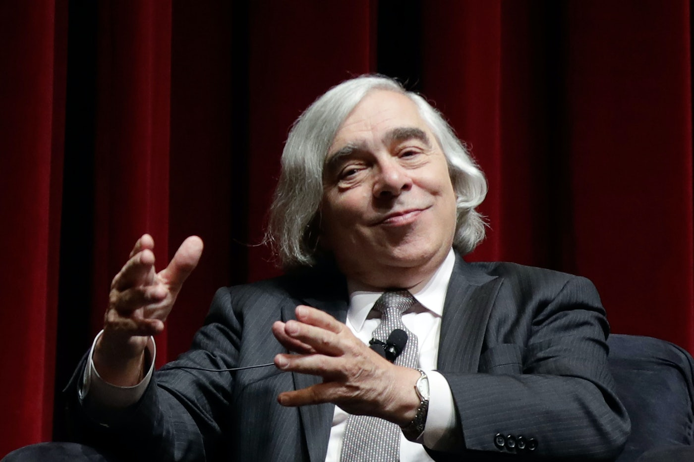 Former Energy Secretary Ernest Moniz speaks during the National Clean Energy Summit in 2017.