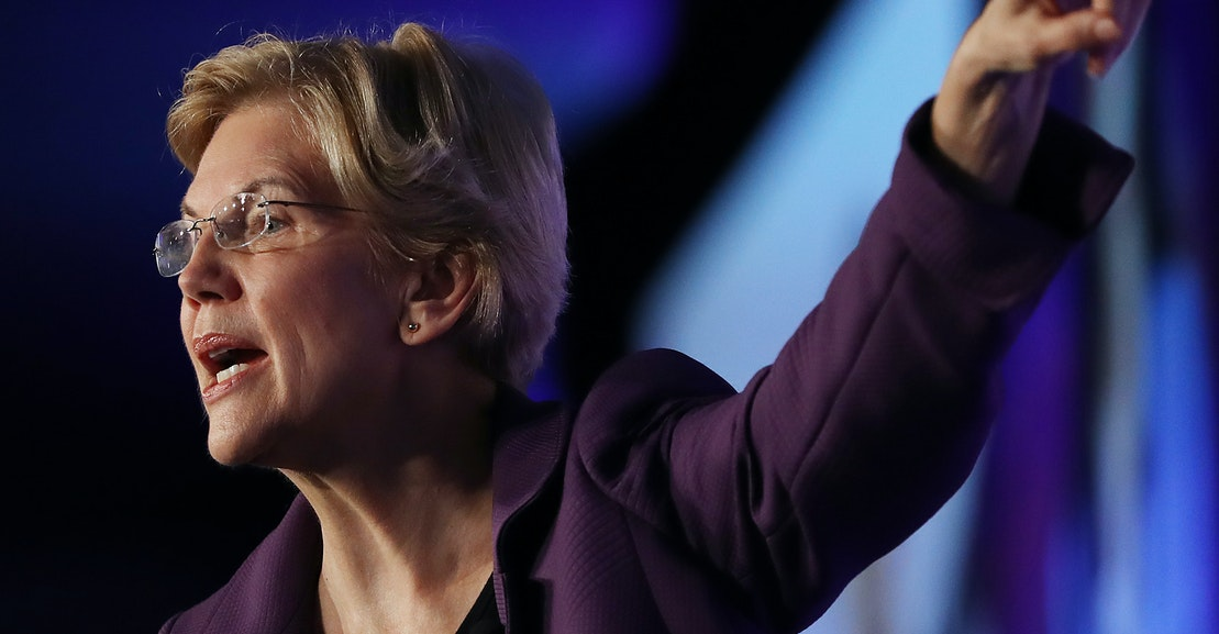 Warren's Plan to Spurn Big Money Donors Has a Catch