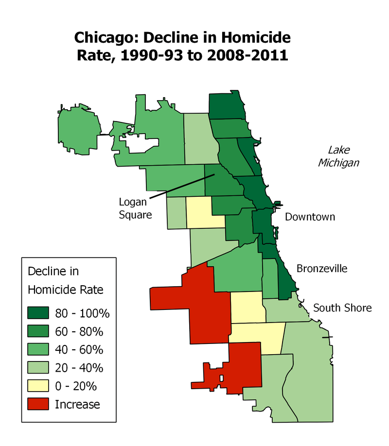 maps of crime in chicago crime in different neighborhoods new