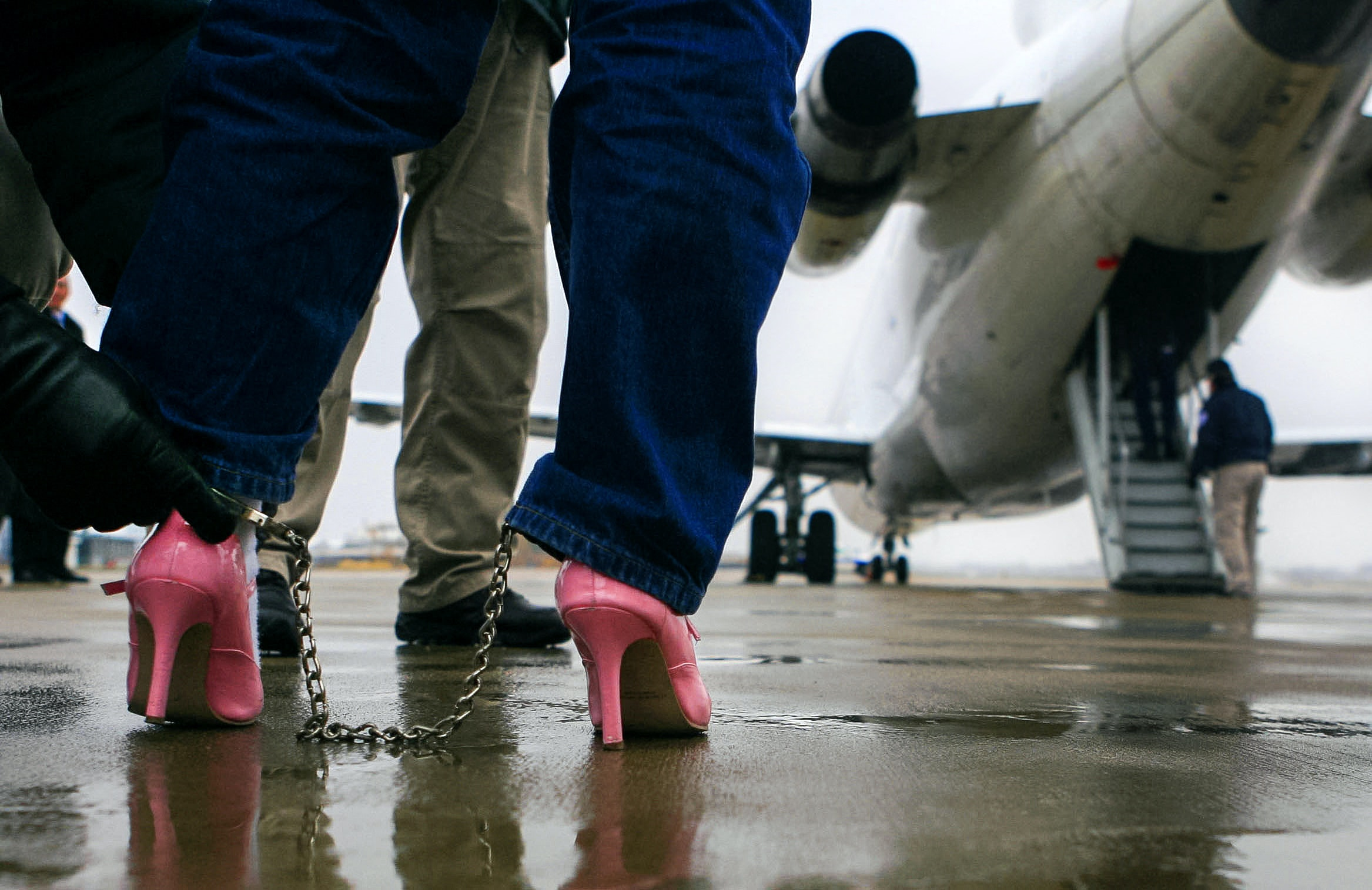 Are planes and high heels