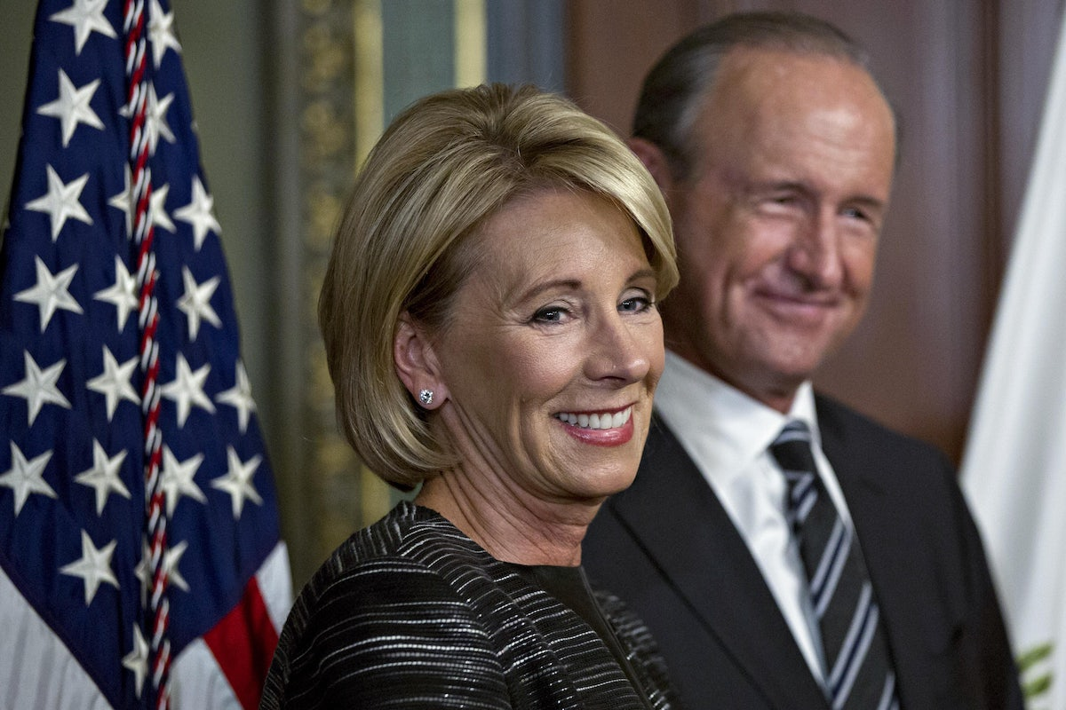 Betsy Devos Nomination Chilling >> Betsy Devos Spent Her First Day On The Job Doing Serious Damage