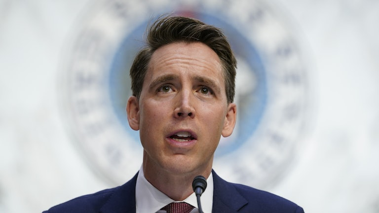 Senator Josh Hawley is the GOP's fiercest critic of Big Tech.