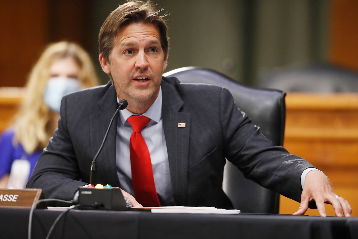 Nebraska Senator Ben Sasse speaks during a Senate Intelligence Committee hearing.