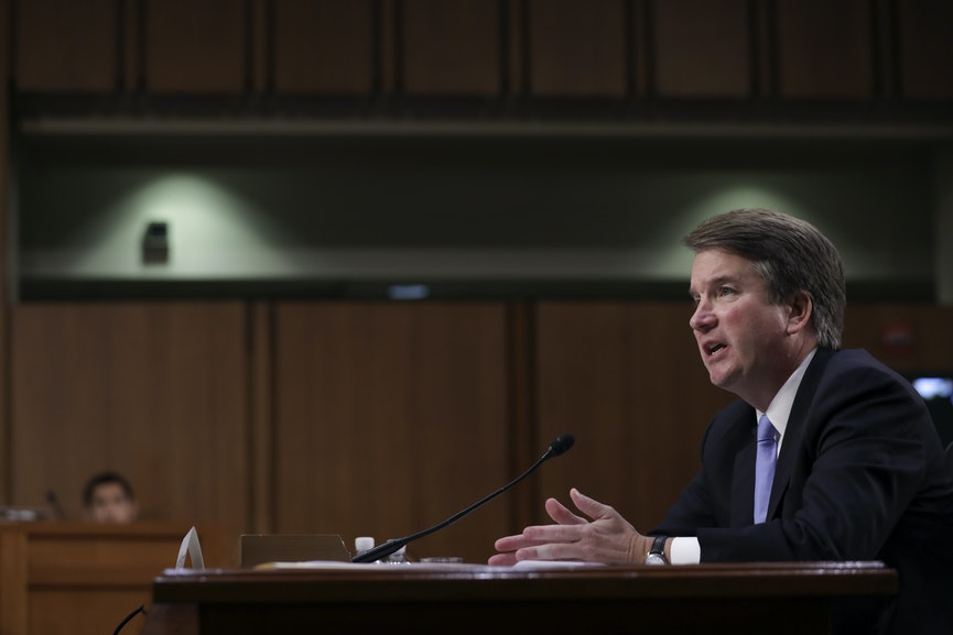 newrepublic.com - Trump stands by Brett Kavanaugh and says accusations are 'totally political.'