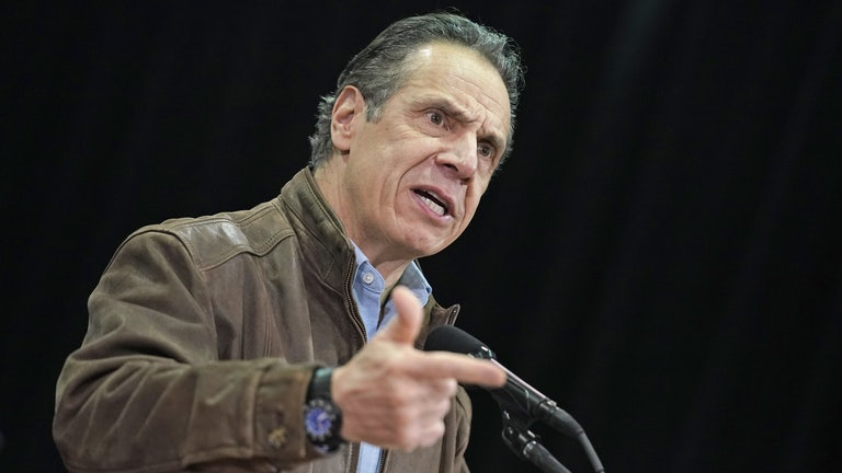Andrew Cuomo speaks during a press conference
