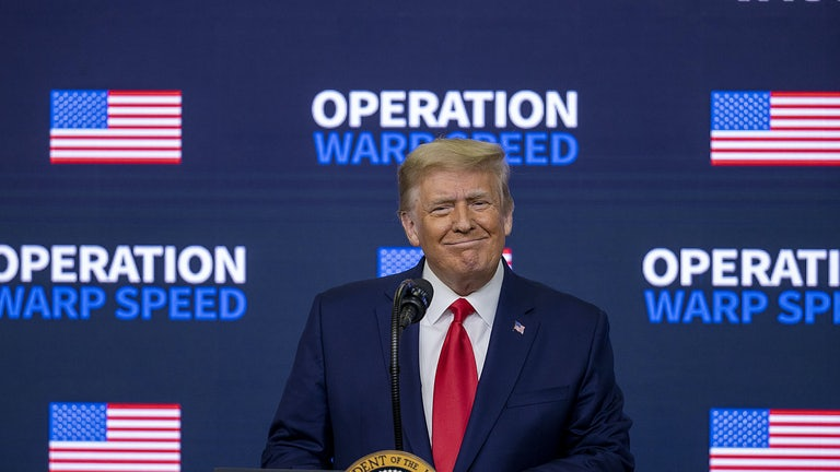 President Donald Trump speaks at the Operation Warp Speed Vaccine Summit.