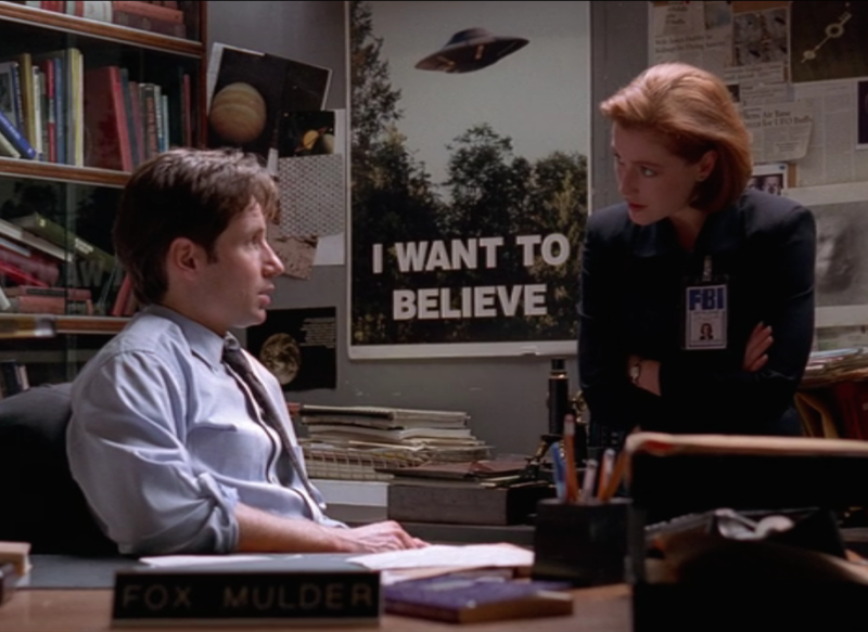 Image result for fox mulder i want to believe poster