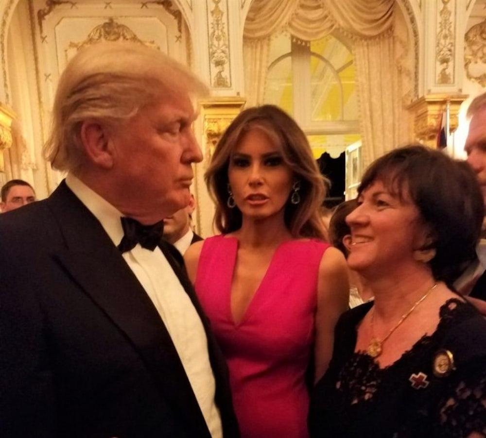 5da8dda5ac3d Hungarian Ambassador Réka Szemerkényi socialized with Trump and the first  lady at an event at Mar-a-Lago in February 2017. Réka Szemerkényi