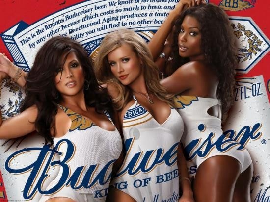 Women ad Objectifying beer