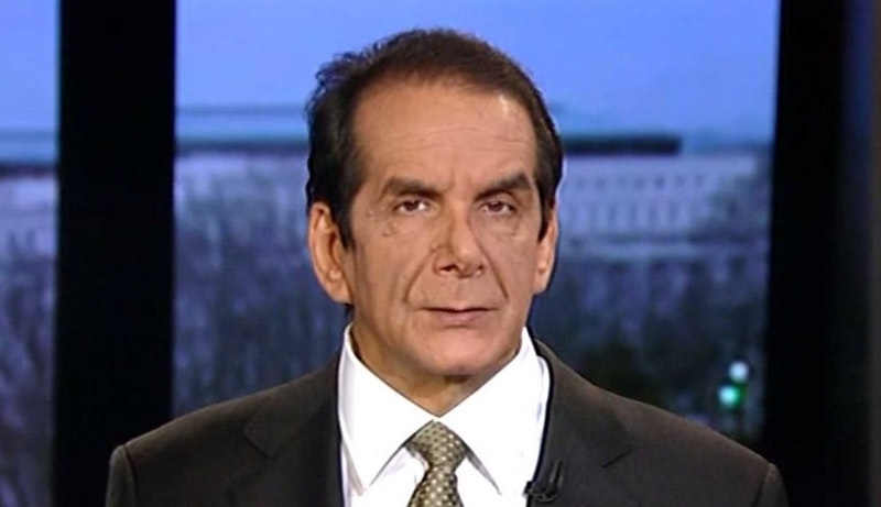 Charles Krauthammer Gives Hillary Clinton The Worst Endorsement Of All Time The New Republic