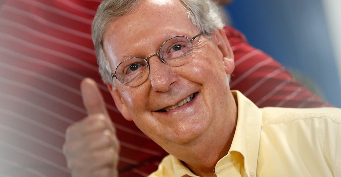 mitch mcconnell Senate majority leader mitch mcconnell was followed to his car saturday by protesters who hurled both personal insults and political rhetoric at him while he left a kentucky restaurant.