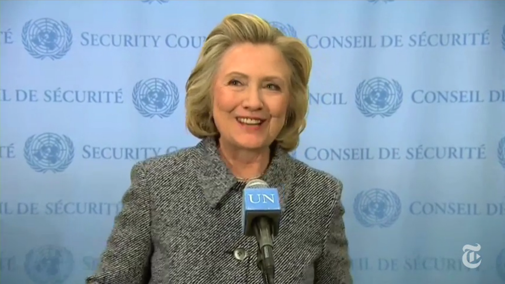 Hillary smiles a lot