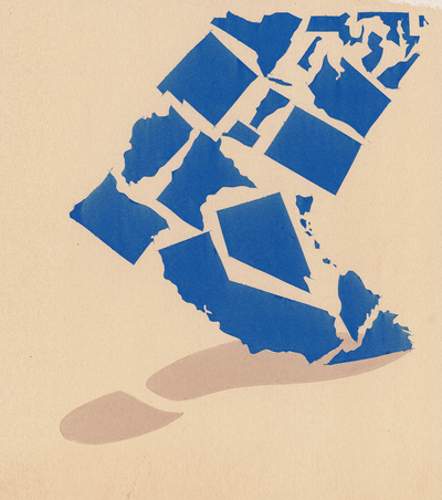 Its Time For A Bluexit New Republic - Can you hear us now county map
