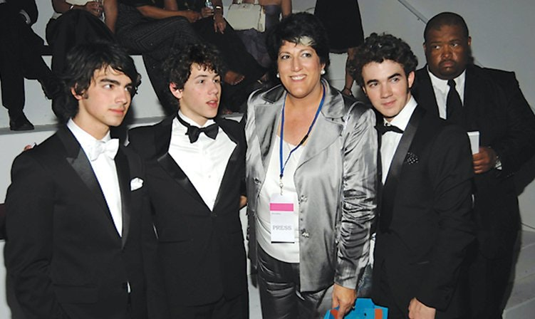 With the Jonas Brothers.