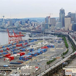 Seattle's Alaskan Way Viaduct is slated to be replaced with a tunnel--WSDOT photo