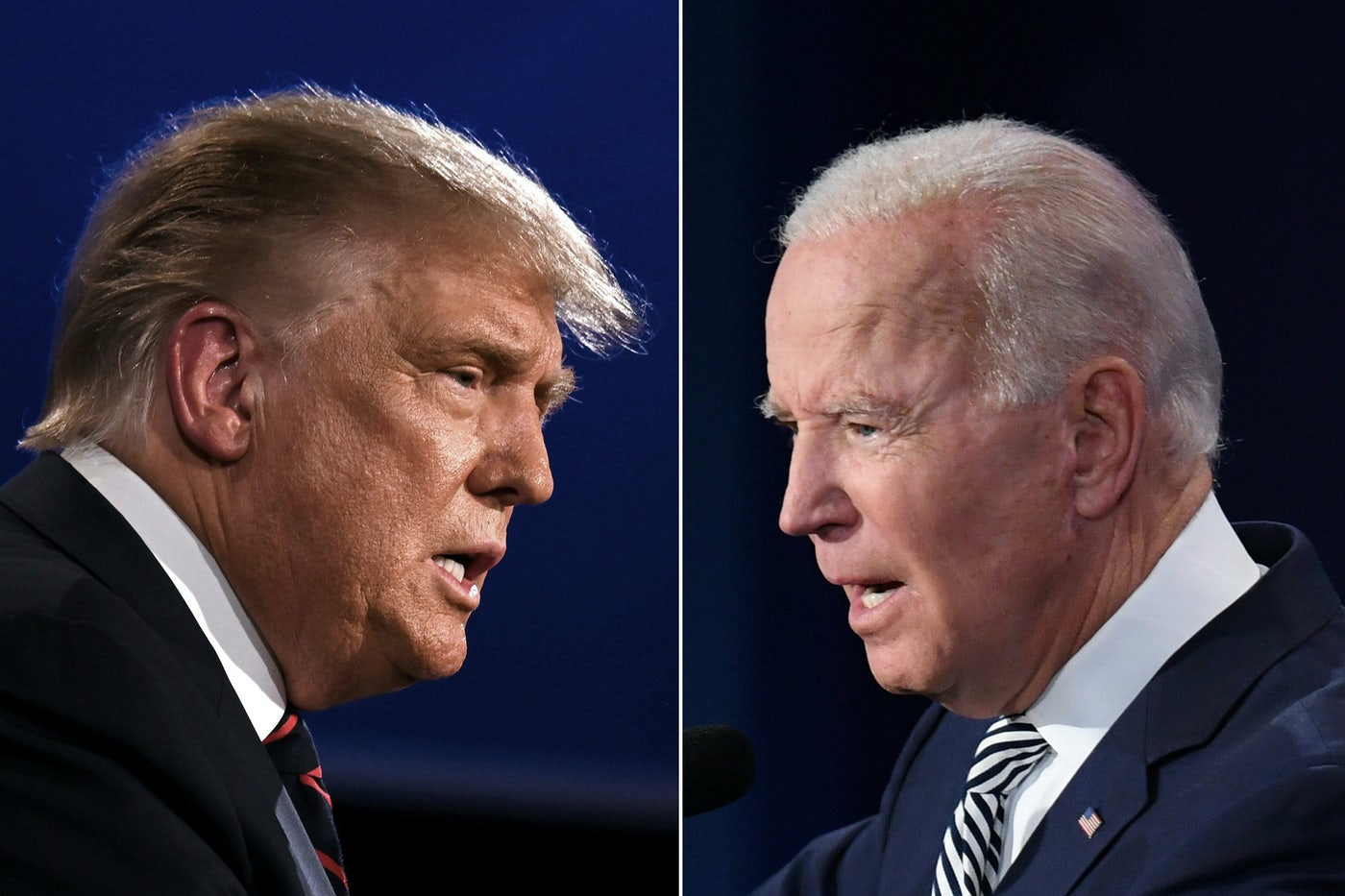 Donald Trump and Joe Biden during the first presidential debate