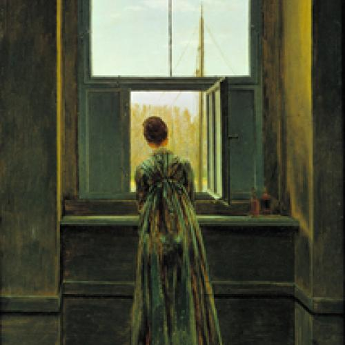'Woman at the Window,' Caspar David Friedrich