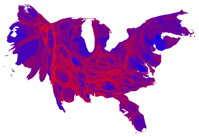 Cartogram Maps Prove That America Isnt A Red Country New Republic - Fillable us election map