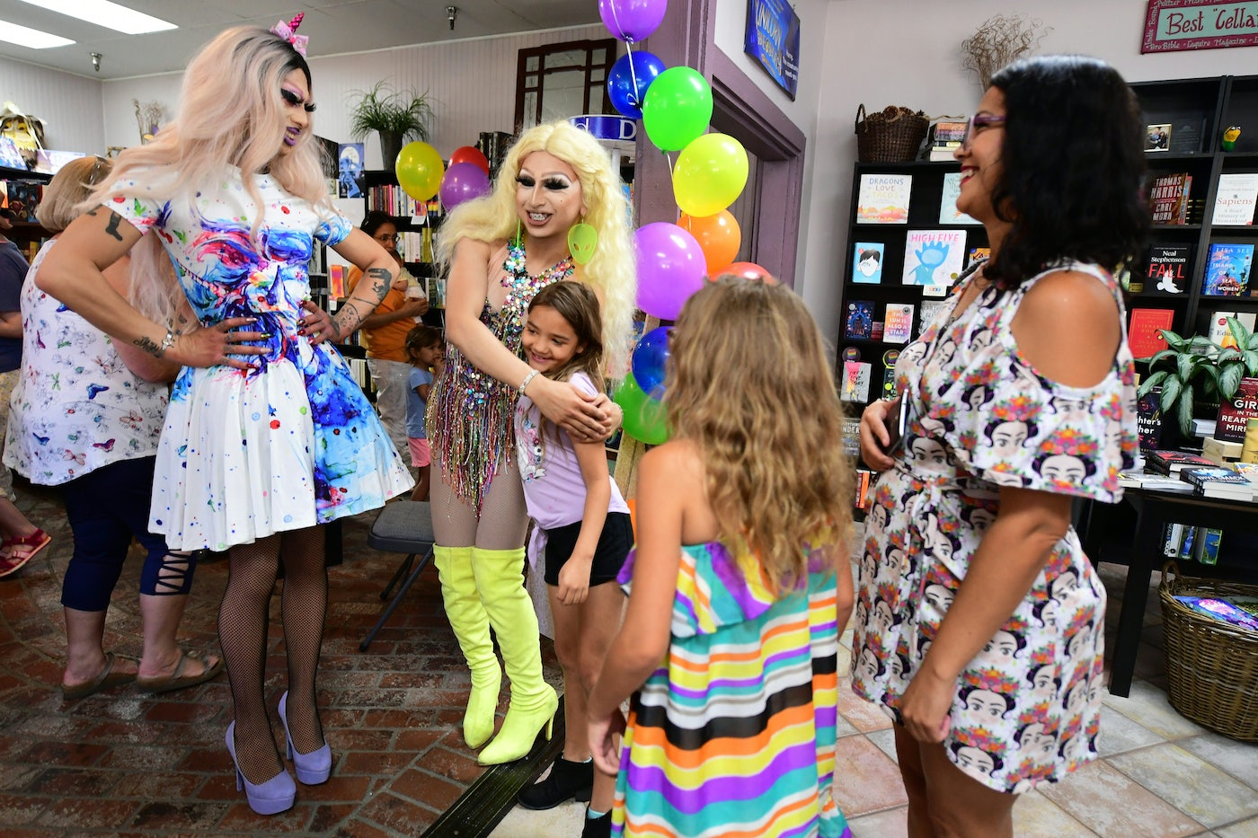 A Drag Queen Story Hour in Riverside, California, in 2019