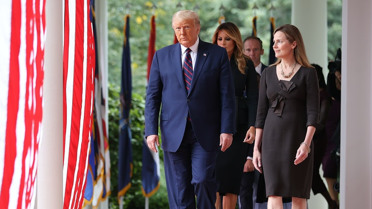 Trump and Amy Coney Barrett at the White House