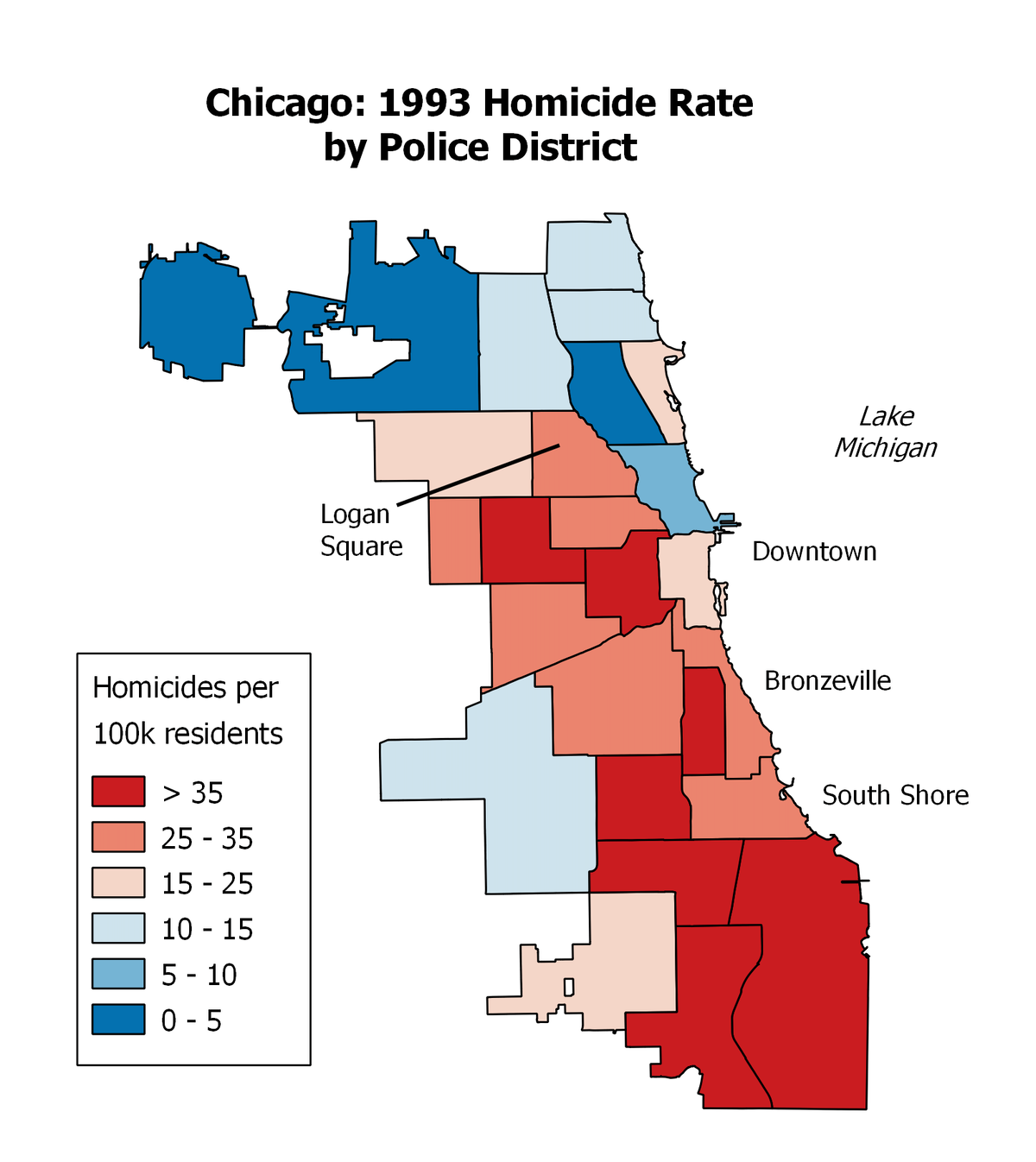 Maps of Crime in Chicago: Crime in Different Neighborhoods ...