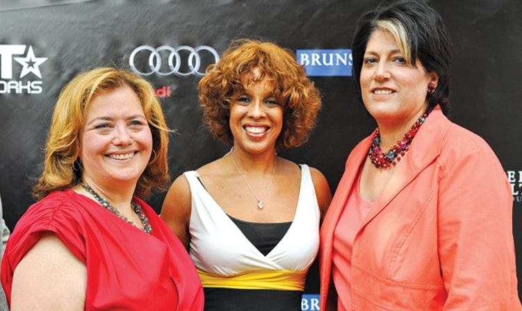 With Hilary Rosen and friend-of-Oprah, Gayle King.