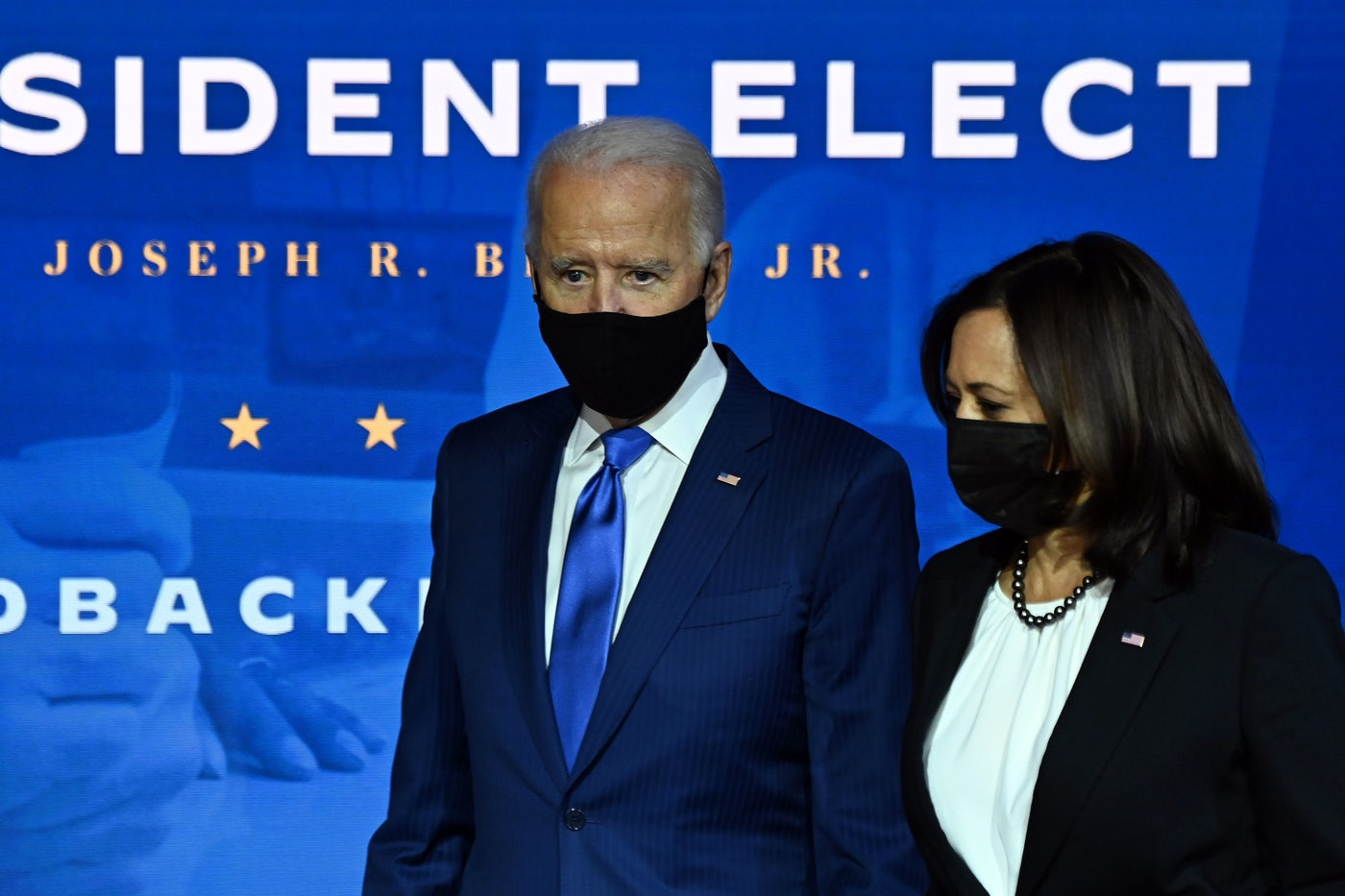 Joe Biden and Kamala Harris announce the new administration's economic team in Delaware.