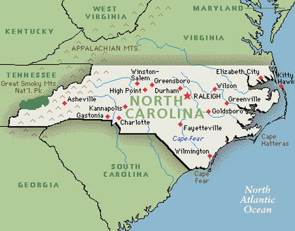 North South Carolina Map.Fox News Fails Geography Uses False Map Of North Carolina The New